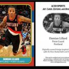 Damian Lillard 1986-87 Fleer Style ACEO Card Rookie RC Portland Trail Blazers