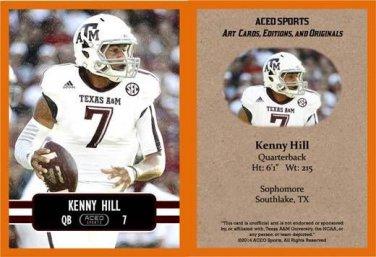 Kenny Hill 2014 ACEO Sports Football Card Texas A&M TCU