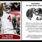 T.J. TJ Yeldon 2012 ACEO Sports Pre RC Alabama Football Card Jaguars