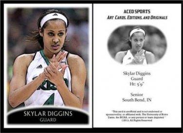 Skylar Diggins 2013 ACEO Sports Pre RC Basketball Card Notre Dame Tulsa Shock