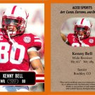 Kenny Bell 2014 ACEO Sports Football Pre RC Card Nebraska Tampa Bay Buccaneers