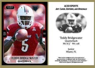 Teddy Bridgewater 2013 ACEO Sports Football Card Louisville Minnesota Vikings