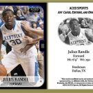 Julius Randle 2013 ACEO Sports Football Card Pre RC Kentucky Los Angeles Lakers