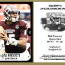 Dak Prescott 2013 ACEO Sports Football Pre RC Card Mississippi State
