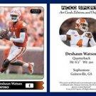 Deshaun Watson NEW! 2015 ACEO Sports Football Card - Clemson Tigers QB