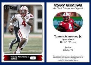 Tommy Armstrong Jr. NEW 2015 ACEO Sports Football Card Nebraska Cornhuskers - QB