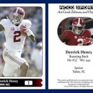 Derrick Henry NEW! 2015 ACEO Sports Football Card Alabama Crimson Tide RB