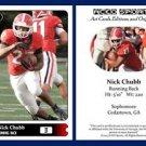 Nick Chubb NEW! 2015 ACEO Sports Football Card Georgia Bulldogs RB