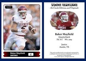 Baker Mayfield NEW! 2015 ACEO Sports Football Card Oklahoma Sooners QB