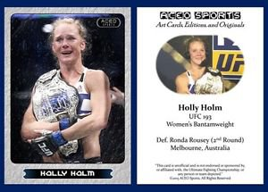 Holly Holm 2015 ACEO Sports Trading Card - UFC 193 Commemorative MMA