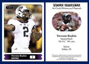 Trevone Boykin NEW! 2015 ACEO Sports Football Card TCU Horned Frogs - QB