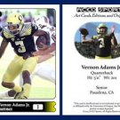 Vernon Adams Jr NEW! 2015 ACEO Sports Football Card Oregon Ducks QB