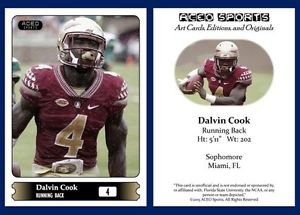 Dalvin Cook NEW! 2015 ACEO Sports Football Card Florida State Seminoles FSU RB