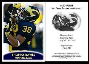 Thomas Rawls 2012 ACEO Sports Pre Rookie RC Card Seattle Seahawks Michigan