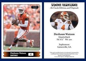 Deshaun Watson 2015 ACEO Sports Football Card - Clemson Tigers QB
