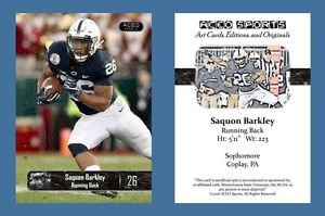 Saquon Barkley NEW! 2016 ACEO Sports Football Card Penn State Nittany Lions RB