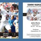 Jalen Hurts NEW! 2016 ACEO Sports Football Card - Alabama Crimson Tide - QB