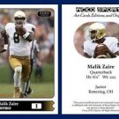 Malik Zaire 2015 ACEO Sports Football Card - Notre Dame Fighting Irish QB