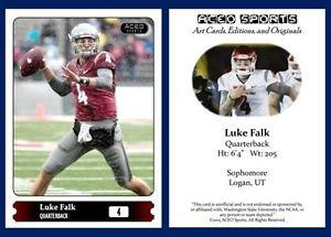 Luke Falk 2015 ACEO Sports Football Card Washington State Cougars - QB