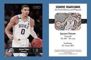 Jayson Tatum NEW! 2016-17 ACEO Sports Basketball Card Duke Blue Devils