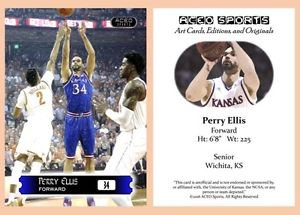 Perry Ellis 2015-16 ACEO Sports Basketball Card Kansas Jayhawks