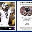 Trevone Boykin 2015 ACEO Sports Football Card TCU Horned Frogs - QB