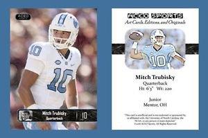 Mitch Trubisky NEW! 2016 ACEO Sports Football Card - UNC Tar Heels - QB