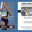 Allyson Felix NEW! ACEO Sports Card 2016 Rio Olympics USA Track & Field