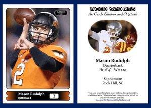 Mason Rudolph 2015 ACEO Sports Football Card Oklahoma State Cowboys - QB