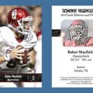 Baker Mayfield NEW! 2016 ACEO Sports Football Card - Oklahoma Sooners - QB