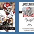 Baker Mayfield NEW! 2016 ACEO Sports Football Card - Oklahoma Sooners - QB