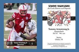 Tommy Armstrong Jr NEW! 2016 ACEO Sports Football Card - Nebraska Cornhuskers QB