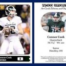 Connor Cook 2015 ACEO Sports Football Card Pre Rookie RC Oakland Raiders MSU