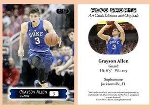 Grayson Allen 2015-16 ACEO Sports Basketball Card Duke Blue Devils