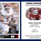 Baker Mayfield 2015 ACEO Sports Football Card Oklahoma Sooners QB