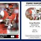 Greg Ward Jr. 2015 ACEO Sports Football Card Houston Cougars - QB