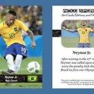 Neymar Jr. NEW! ACEO Sports Card 2016 Rio Olympics Brazil Soccer Futbol Football