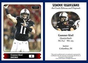 Gunner Kiel 2015 ACEO Sports Football Card - Cincinnati Bearcats - QB