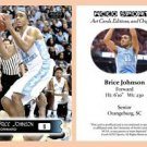 Brice Johnson 2015-16 ACEO Sports Basketball Card North Carolina UNC