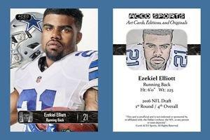 Ezekiel Elliott NEW! 2016 ACEO Sports Card RC Rookie Dallas Cowboys Ohio State