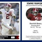 Derrick Henry 2015 ACEO Sports Pre Rookie RC Card Alabama Tennessee Titans