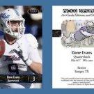 Dane Evans NEW! 2016 ACEO Sports Football Card - Tulsa Golden Hurricane - QB