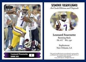 Leonard Fournette 2015 ACEO Sports Football Card - LSU Tigers RB