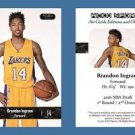 Brandon Ingram NEW! 2016 ACEO Sports Card RC Rookie Los Angeles Lakers Duke