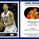 Ben Simmons 2015 ACEO Sports Basketball Card Pre RC Philadelphia 76ers LSU
