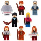 Harry Potter custom set of 8 minifigures Lego compatible, Dumbledore, Death Eater, Hermione, Ron