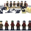 Lego compatible German soldiers 6 minifigures, World War military minifigures