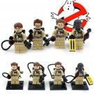 Ghostbusters set of 4 minifigures Lego compatible, Peter Venkman, Winston Zeddmore, Egon Spengler