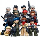 Lego Police Compatible SWAT Assault Commando Armored Soldier Minifigure