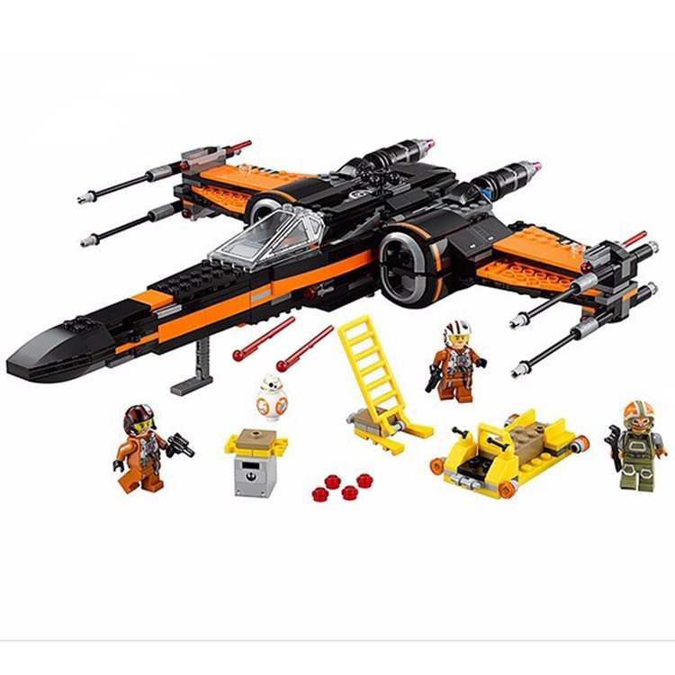 Star Wars X-Wing Fighter Jet Plane Force Awaken Lego Compatible Toy